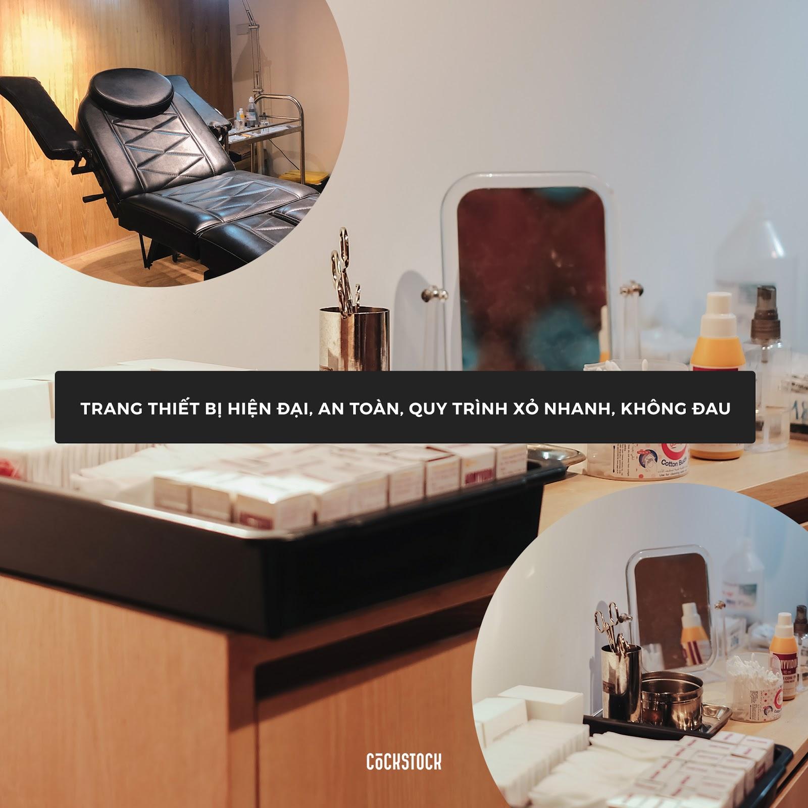 CockStock là địa điểm xỏ khuyên uy tín, an toàn bởi trang tại đây có trang thiết bị hiện đại, y tế, an toàn và quy trình xỏ khuyên chuyên nghiệp, nhanh chóng, không gây đau đớn