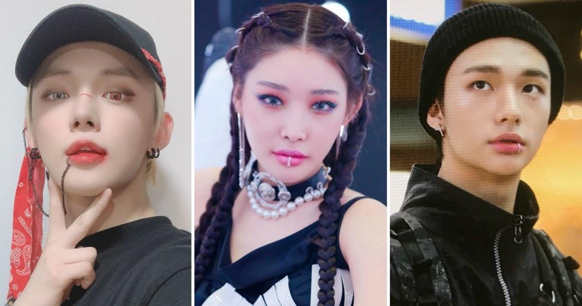 Nhiều idol chuộng các kiểu xỏ đặc biệt trên mặt và trên cơ thể (Ảnh: Internet)